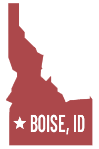 State of Idaho with Boise, ID text